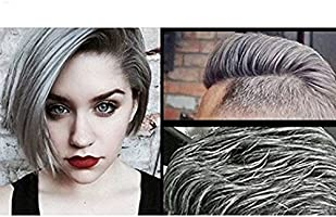 Amazon.com : Temporary Silver Gray Hair Wax Pomade for People ...