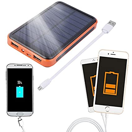 Amazon.com: 100000 mAh – Gran capacidad impermeable Solar ...