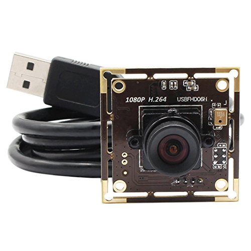 Mini USB Camera Module Board Full HD 1080P Webcamera with USB,Sony IMX322 Night Low Illumination Surveillance Pet Baby Web Cam,H.264,Home Nanny Web USB Security Cameras with No Distorion Lens