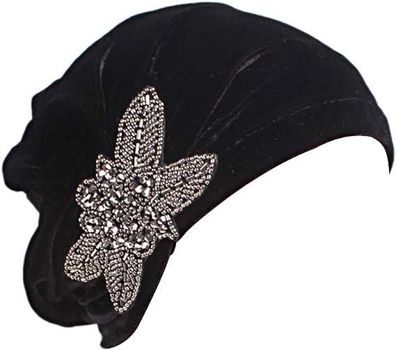 Amorar Hommes Femmes Bandana Turban Serre-t/êtes Bonnet de Chimio Foulard Musulman en Soie Chapeau de Hip Hop Chapeau de Pirate /à Longue Queue Casquettes