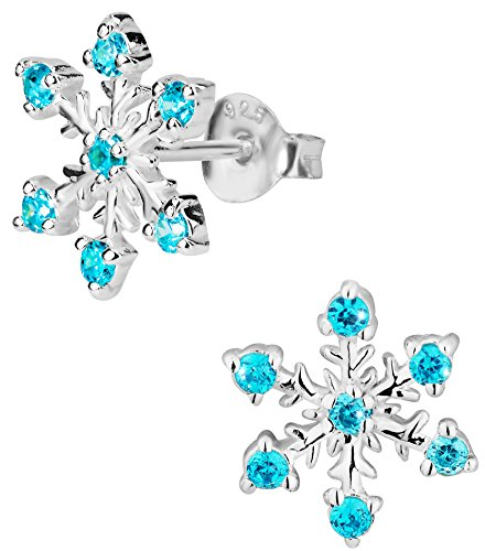 Hypoallergenic Sterling Simulated Diamond Snowflake Jewelry for Kids