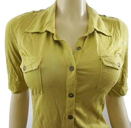 La siguiente verde lima botón de blusa de manga corta para de agua con conector para