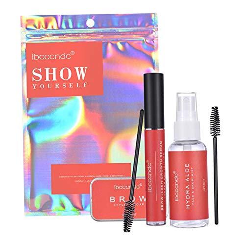 #N/A Feathery Eye Brow Eyebrow Shaping Brow Soap Kit Growth Serum + Brush + Aloe Vera Water Eyebrow Enhancer Brows Styling Salon Makeup - Color bag