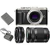Olympus PEN E-PL9 Mirrorless Micro Four Thirds Digital Camera [Black] + M.Zuiko Digital ED 14-42mm f/3.5-5.6 EZ Lens (Black) + M.Zuiko Digital ED 40-150mm f/4.0-5.6 R Lens (Black)