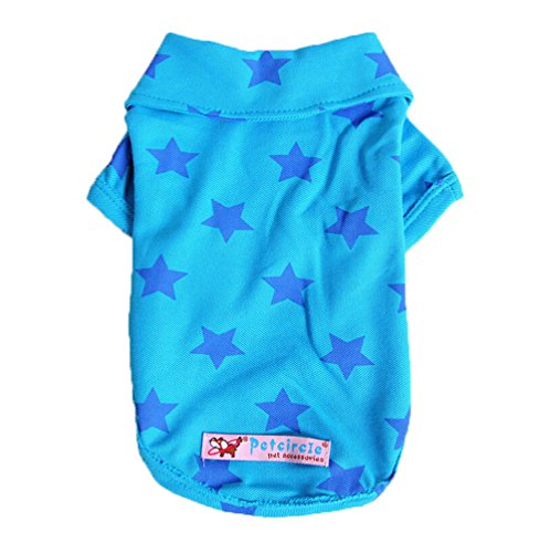 Gold Wing Polo T-Shirt Suit Clothes Outfit for Pet Dog, Blue Color, Size Large
