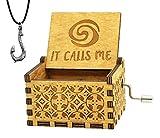 Sooye Moana Music Box- 18 Note Mechanism Antique Carved Music Box Crafts(Moana)
