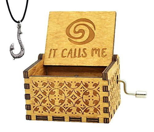 - Sooye Moana Music Box- Upgraded Version Antique Carved Hand Crank Music Box (How far I'll go)