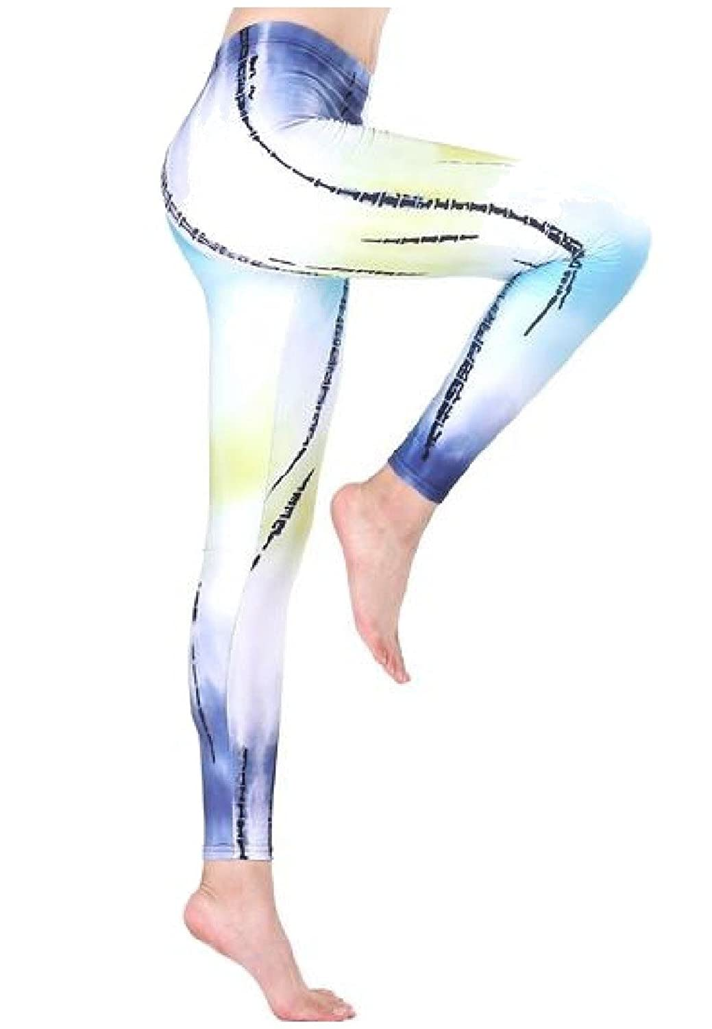Abetteric Women's High Stretch Tie Dyed Print Chic Yoga Pants Leggings
