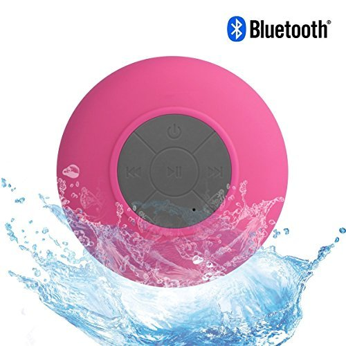 Water Resistant Silicone Bluetooth Speaker (Pink) - 6