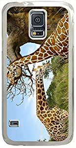 Animals & Birds Giraffe-Pair Cases for Samsung Galaxy S5 I9600 with Transparent Skin