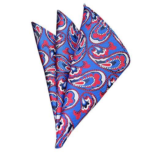 Fashion Men Women Floral Print Handkerchief,Retro Suit Pocket Square Scarf Soft Chest Towel (D) ()