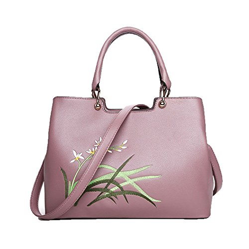 Dames De Mode Imprimé Top Poignée Sac À Main Sac À Bandoulière Sac À Main Satchel Multicolor Pink