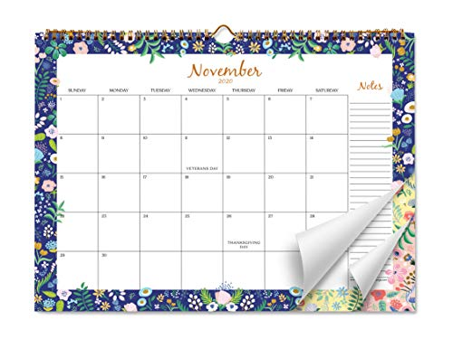 Sweetzer & Orange 2021 Calendar. 18 Month Office or Family Wall Calendar July2020-Dec2021 - Floral Border Monthly Planner, Daily Wall Calendars for Office Organization. 11.5 x 15 Inch Hanging Wall