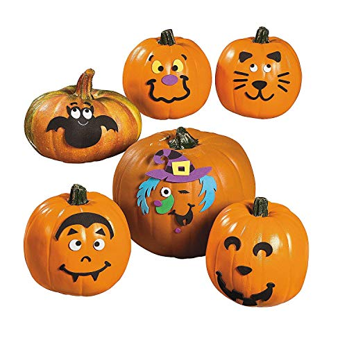 Small Pumpkin Face Craft Kit - Crafts for Kids & Decoration -