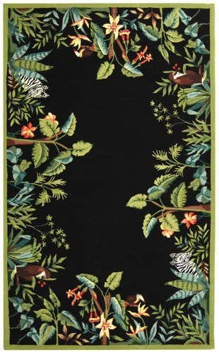 Safavieh HK295 Chelsea Area Rug 11 9 L x 8 9 W Large Rectangle Black Green