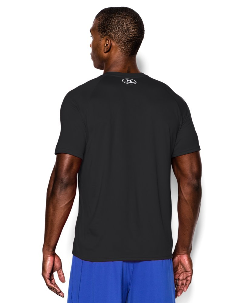 Under Armour Men's Tech Short Sleeve T-Shirt, Black /White, XXX-Large Tall by Under Armour (Image #2)
