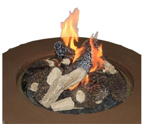 Stainless Steel Crystal Fire Burner Round