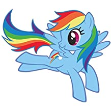 "My Little Pony Rainbow Dash 11"" X 9.4"" Full color vinyl decal sticker"