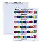 TAB TABQUICK Full Tab Labels for Laser Printers, 1,800 per Pack
