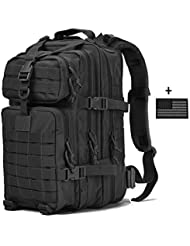 Benteng Military Tactical Assault Pack Backpack with USB charging Port, Army Molle Bug Out Bag Backpacks Small...