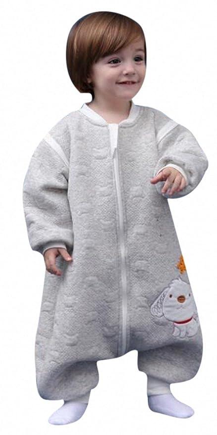 Bebé Saco de dormir ganzjahres perro con pies de schlafanzug infantil baumwollen Niño y Niña Pijama