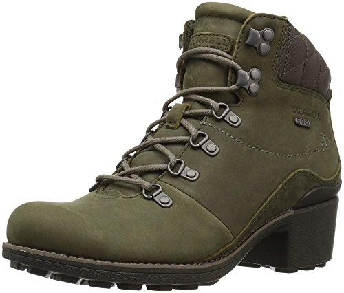 Merrell Women's Chateau Mid Lace Waterproof Snow Boot, Dusty Olive, 8 M ()
