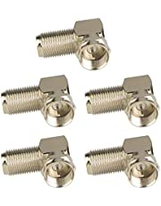 VCE (5-Pack) 90 Degree Right Angle F-Type Coaxial RG6 Adapter