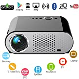 1080 Projector Screen - Android WiFi Internet Video Projector,OAKLETREA 3200 Lumens Multimedia LED Projector Support Full HD 1080P Wireless DLNA Miracast with VGA AV Bluetooth Dual HDMI USB for Home Theater Movie Game Party