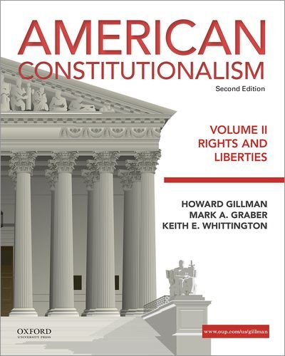 190299487 - 2: American Constitutionalism: Volume II: Rights and Liberties