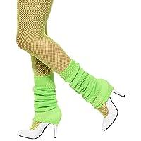 Calentadores de piernas Smiffys Unisex para adultos, verde, talla única