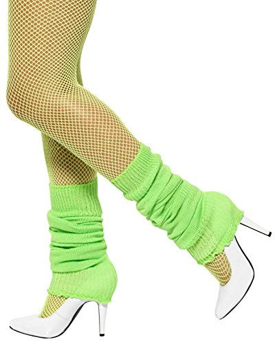 80's Business Woman Costume (Smiffy's Unisex Adult Leg warmers,Green,One Size)