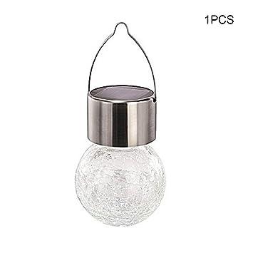 symboat LED lámpara de techo lámpara bola de cristal globo Solar Powerd para Patio jardín de césped