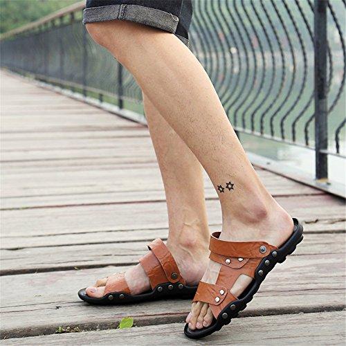para Hombres Zapatos Primavera Hebilla Zapatos los de Sandalias de Confort Soles Verano Cuero Caminar Do de Ligeros q4SwpOnUq