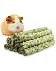 ULIGOTA Timothy Hay Sticks Chew Treats & Toy for Rabbit Guinea Pigs Chinchilla Hamster Sticks