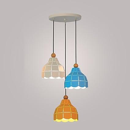 ZZW Lámparas pequeñas de Hierro LED, luz de Techo Triple ...