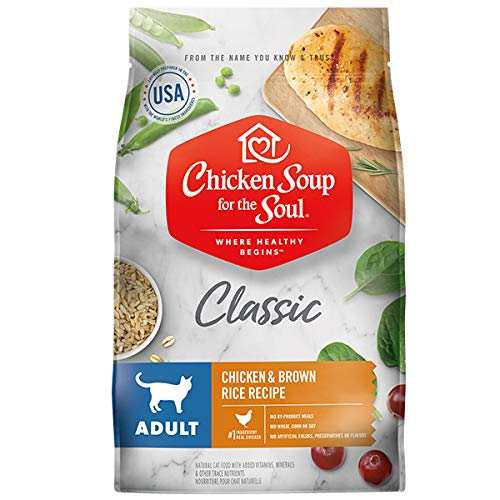 Chicken Soup for the Soul Adult Cat Food - Chicken & Brown Rice Recipe, 5 lb (Best Rated Chicken Soup)