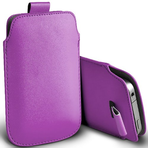 Custodia protettiva Pull Tab Case Slim simil pelle LILLA - Cover per Apple Iphone 4 e 4S - Protettiva - ORIGINALE EASYPLACE®
