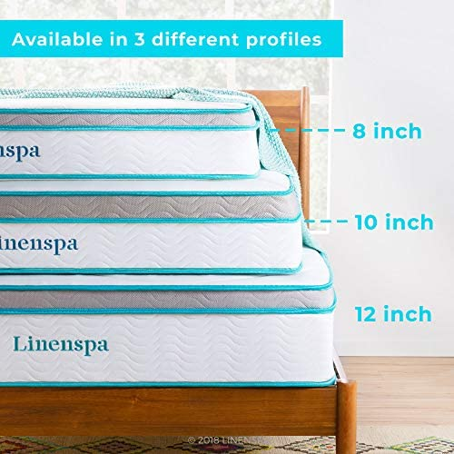home, kitchen, furniture, bedroom furniture, mattresses, box springs,  mattresses 4 picture Linenspa 8 Inch Memory Foam and Innerspring Hybrid promotion