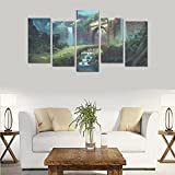 Hotel or Spa Wall Decorations Fantasy artwork painting Rooms Wall Paintings Living Room Canvas Prints Fashion Personalities Decor 5 Piece Canvas painting (No Frame)