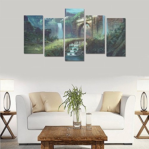 Hotel or Spa Wall Decorations Fantasy artwork painting Rooms Wall Paintings Living Room Canvas Prints Fashion Personalities Decor 5 Piece Canvas painting (No Frame) by sentufuzhuang Canvas Printing
