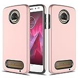 CoverLab Funda Case para Motorola Moto Z2 Play, Doble Protector, color Rose Gold