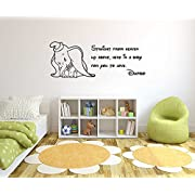 Dumbo Comic Quote Wall Decal Vinyl Wall Art Sticker Mural Kids
