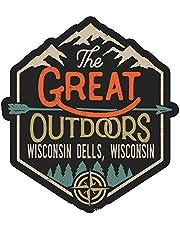 Wisconsin Dells Wisconsin The Great Outdoors Design 4-Inch Vinyl Decal Sticker