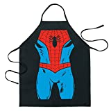 ICUP Marvel - Spider-Man Be The Hero Character Adult Size 100% Cotton Adjustable Black Apron