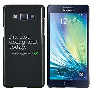 YiPhone /// Prima de resorte delgada de la cubierta del caso de Shell Armor - Lazy vacaciones Cita Objetivos de Vida acciones divertidas - Samsung Galaxy A5 A5000