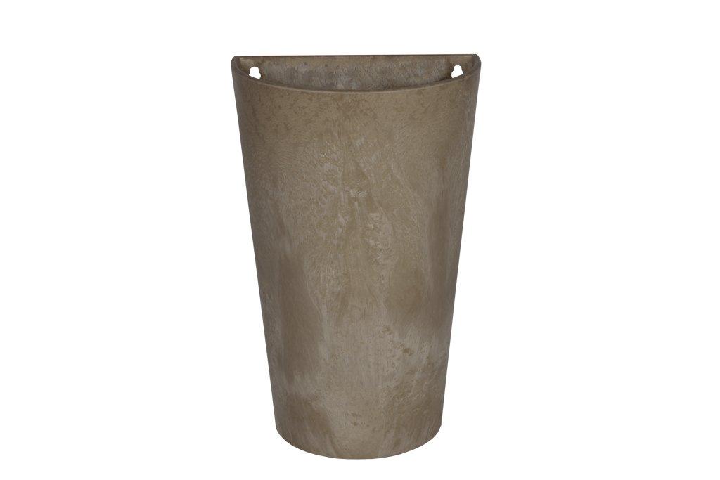 Artstone Vaso da fiori Oggetto da parete Claire, resistente al gelo e leggero, Taupe, 30x18x49cm