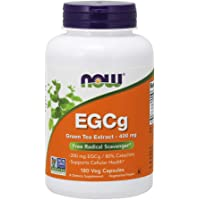 NOW Supplements, EGCg Green Tea Extract 400 mg, 180 Veg Capsules