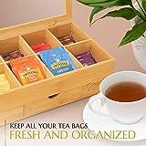 Signature Living Bamboo Wooden Tea Box Storage