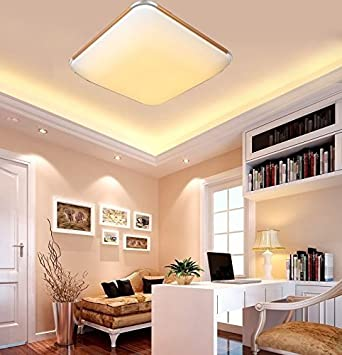 Sailun 24w warmweiß ultraslim led deckenleuchte modern deckenlampe flur wohnzimmer lampe schlafzimmer küche energie sparen licht
