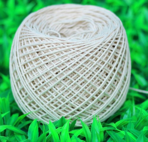 Para-wish (3mm x 100m(about 109 yd)) Handmade Decorations Natural Cotton Bohemia Macrame DIY Wall Hanging Plant Hanger Craft Making Knitting Cord Rope Natural Color Beige